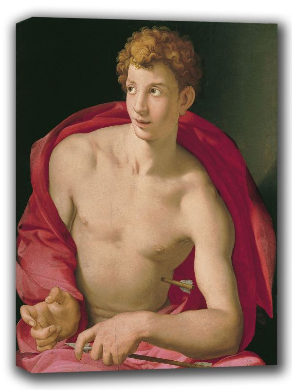 Bronzino, Agnolo: Saint Sebastian. Fine Art Canvas. Sizes: A4/A3/A2/A1 (001976)